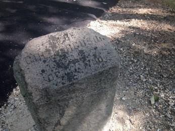 A small stone notating where Ferguson fell.