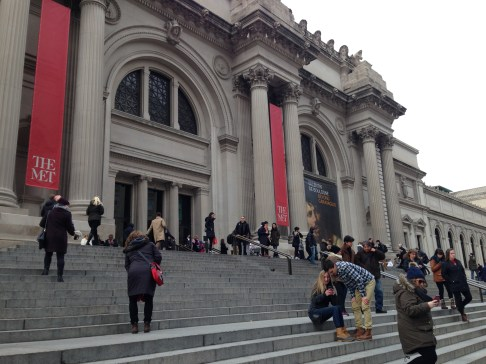 The famous Met on Museum Mile or Fifth Avenue.