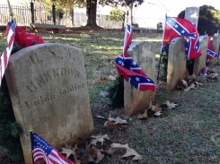 The unknown Union soldier buried next to his fellow men.