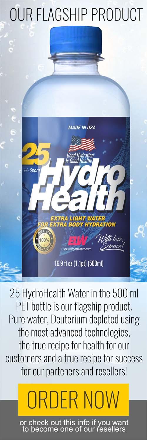 Deuterium Depleted Water DDW 25 Hydro Health