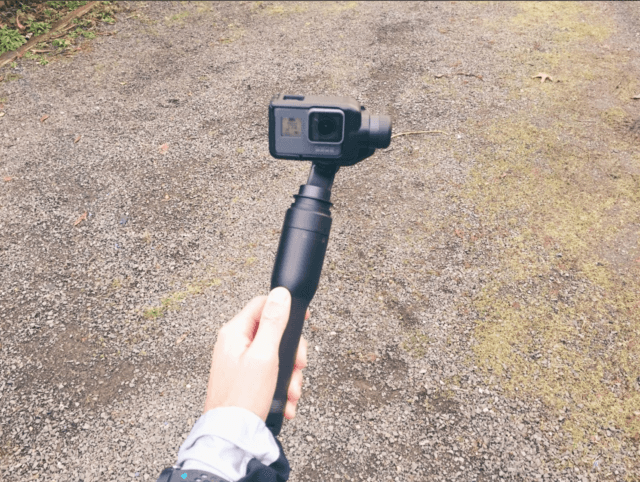 Go Pro with Stabilizer to film marathon tips while running