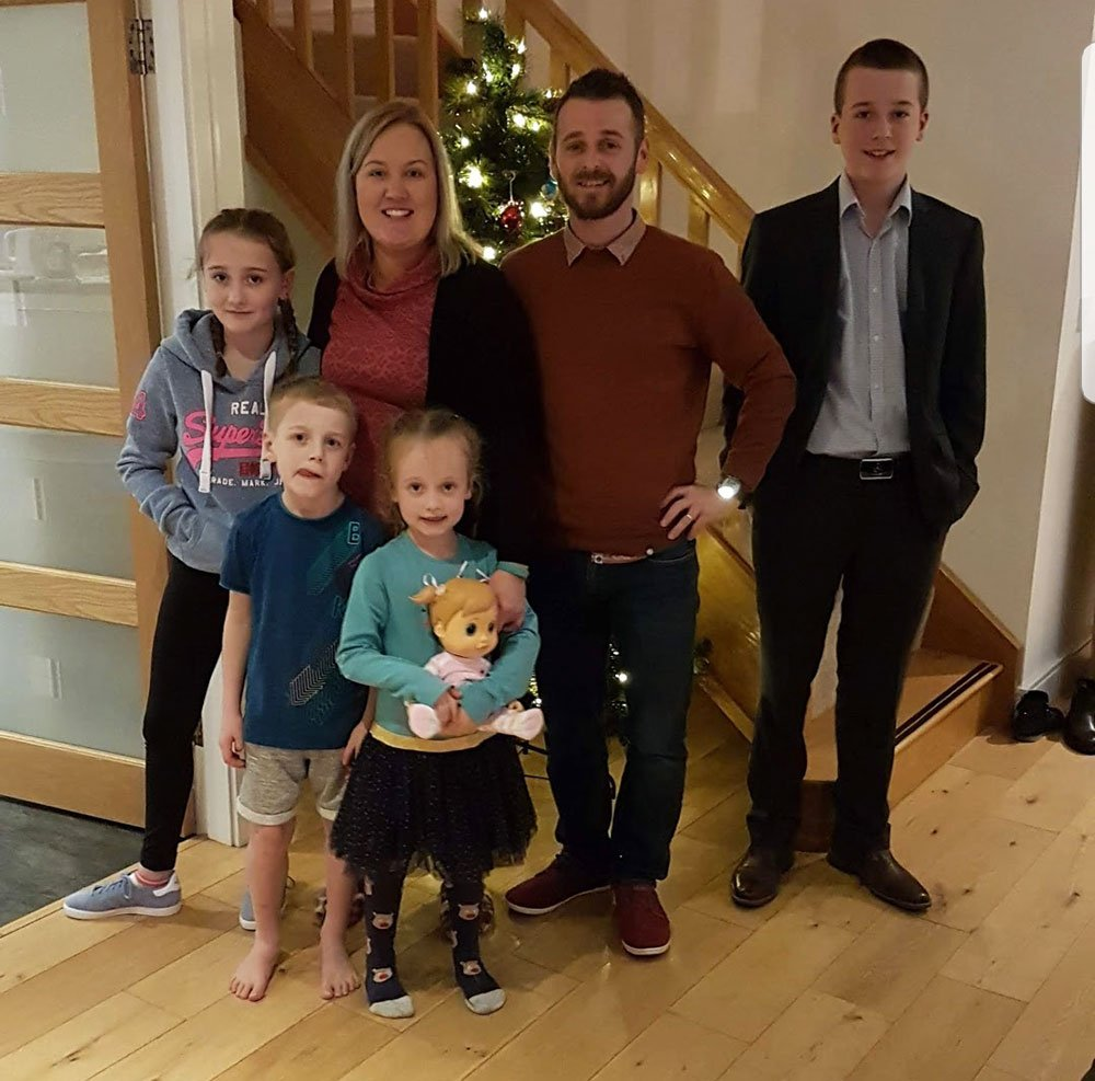 Gareth King with his wife Emma and children Matthew, Lucy, Samuel and Sarah.
