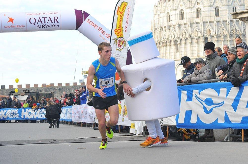 man running a marathon