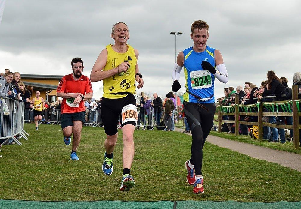 Calvin and Josh Sambrook running