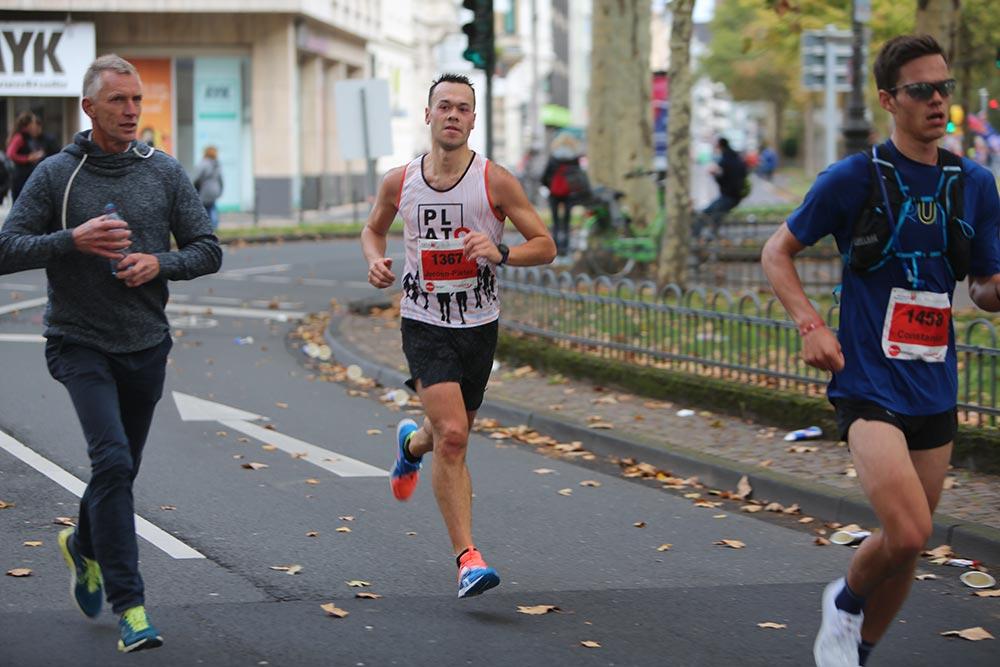 Jeroen running a marathon