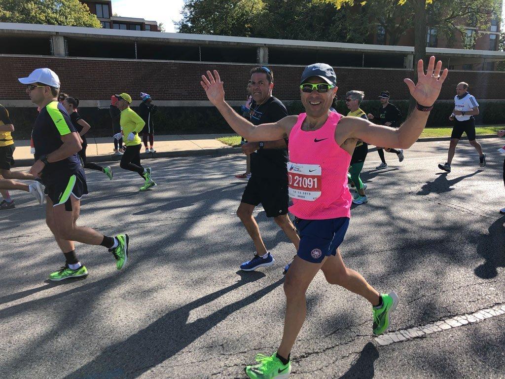 Jeffrey Silver running Chicago Marathon 2019