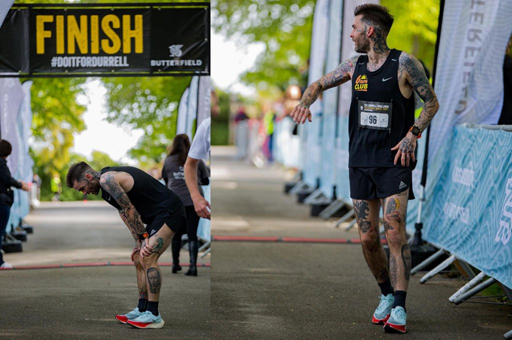 Ash Lewis Tattoo Running Marathon