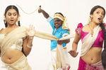 Lawrence with Kamna and Samiksha in Rajathiraja Movie