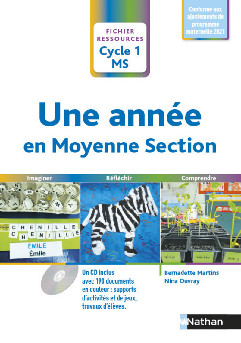 Programmation Arts Visuels Cycle 1 : programmation, visuels, cycle, Année, Moyenne, Section, Fichier, Ressources, 9782091243177, Éditions, Nathan
