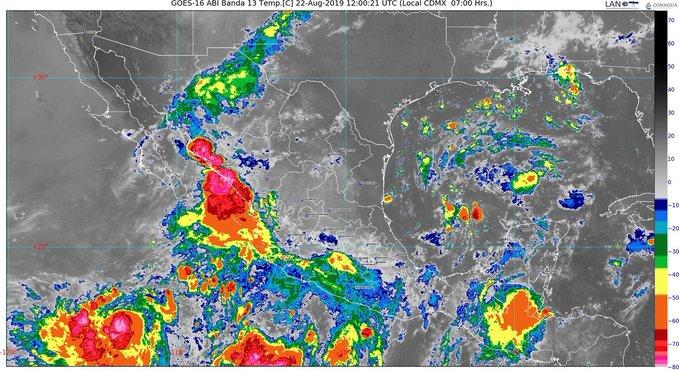 Se prevén lluvias todo el día en Sinaloa, por la tormenta 'Ivo' y otra tormenta que se formó anoche