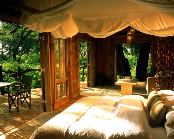 Romantic Treehouse room at Lake Manyara Tree Lodge