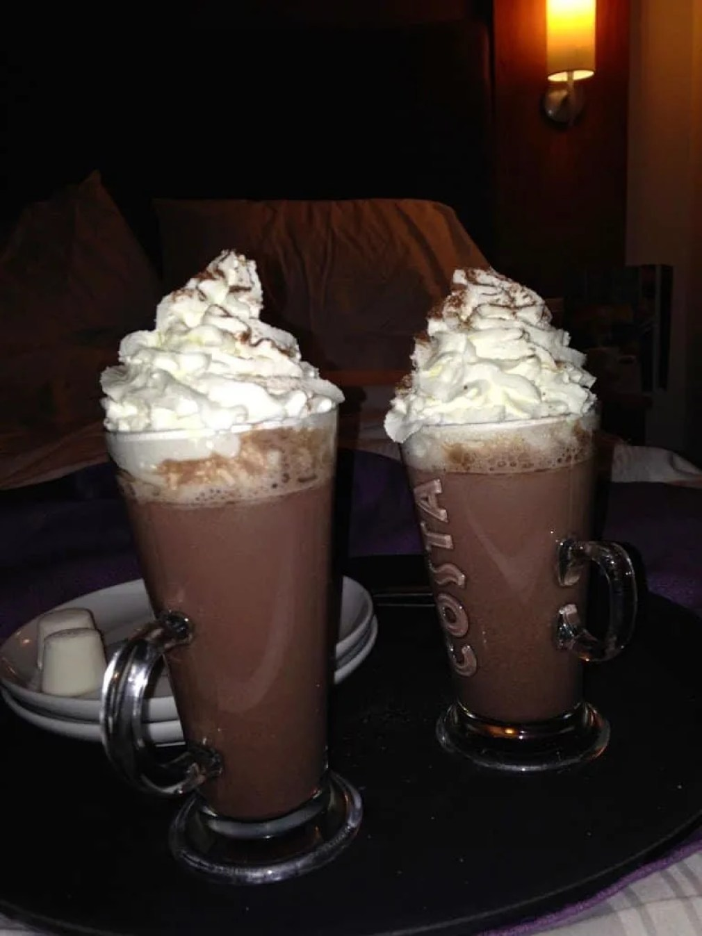 Hot chocolate for the coffee bar at the Premier Inn Waterways at Stratford Upon Avon