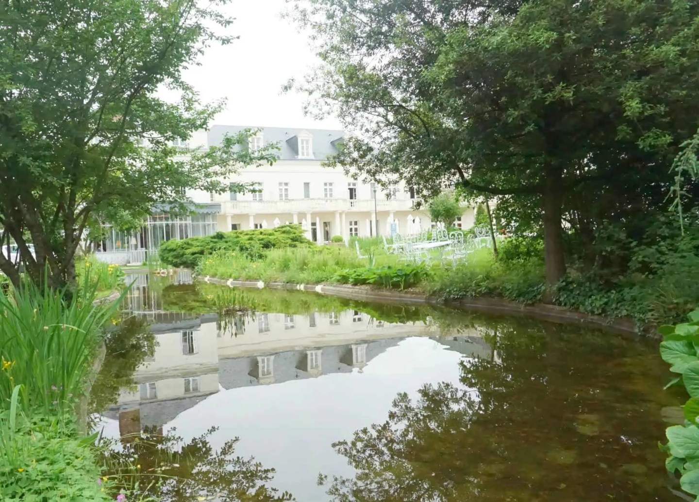 A French Garden At The Clarion Hotel Château Belmont Tours