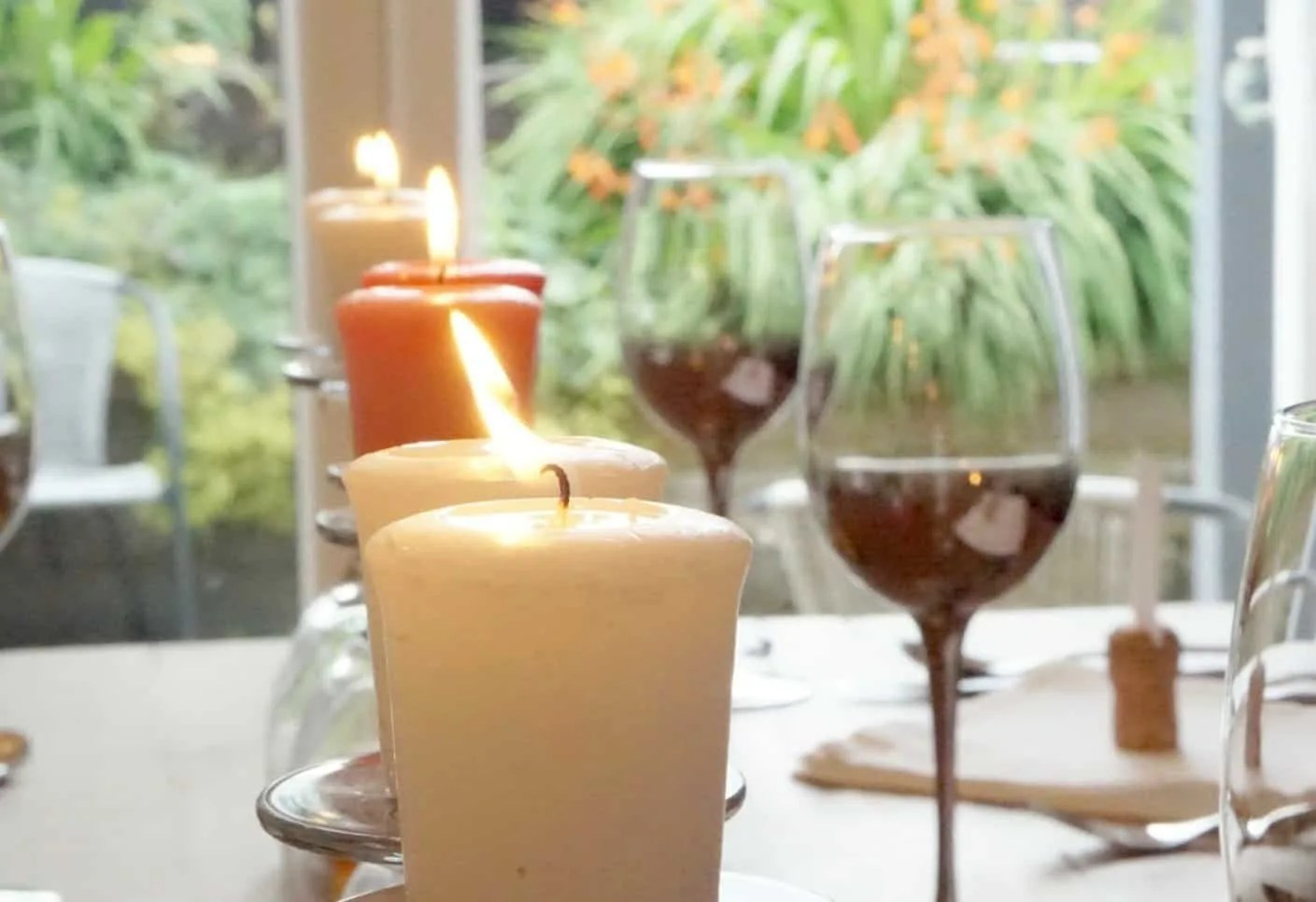 Table Decorations on a budget using upturned glasses www.extraordinarychaos.com