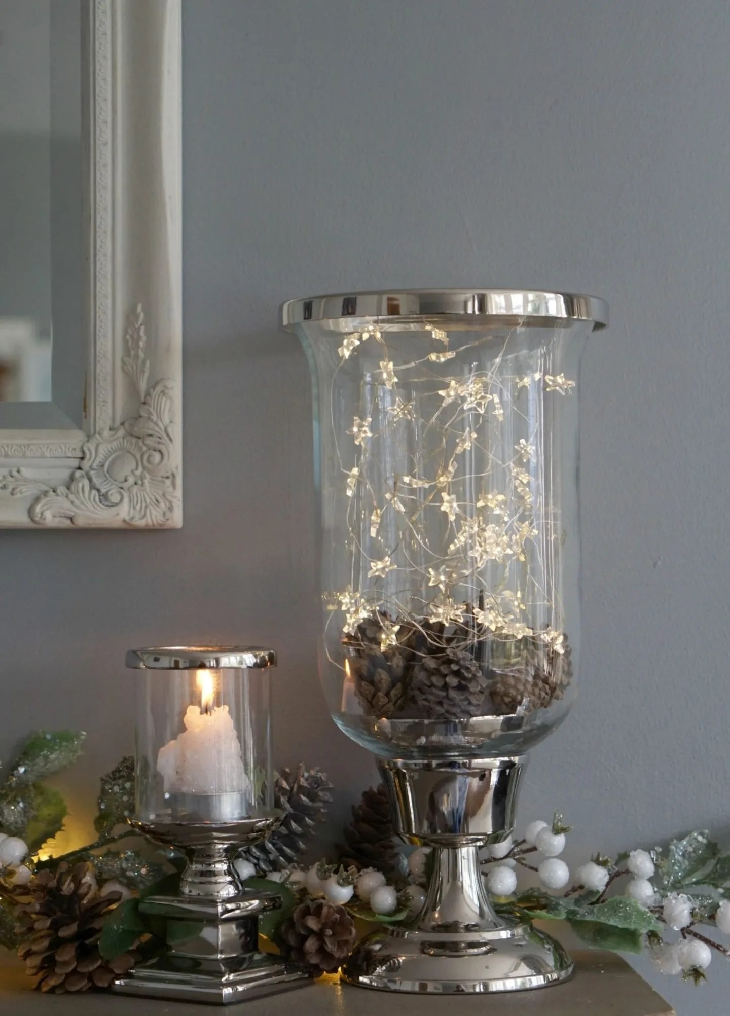 Hurricane Jar with Twinkly Star Lights from Laura Ashely www.extraordinarychaos.com