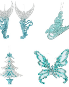 Teal Tree Decorations