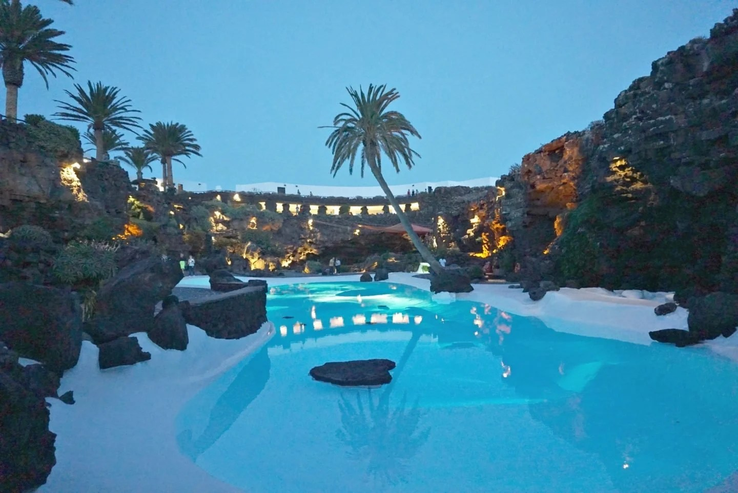 The Feature Pool at Jameos Del Agua In Lanzarote