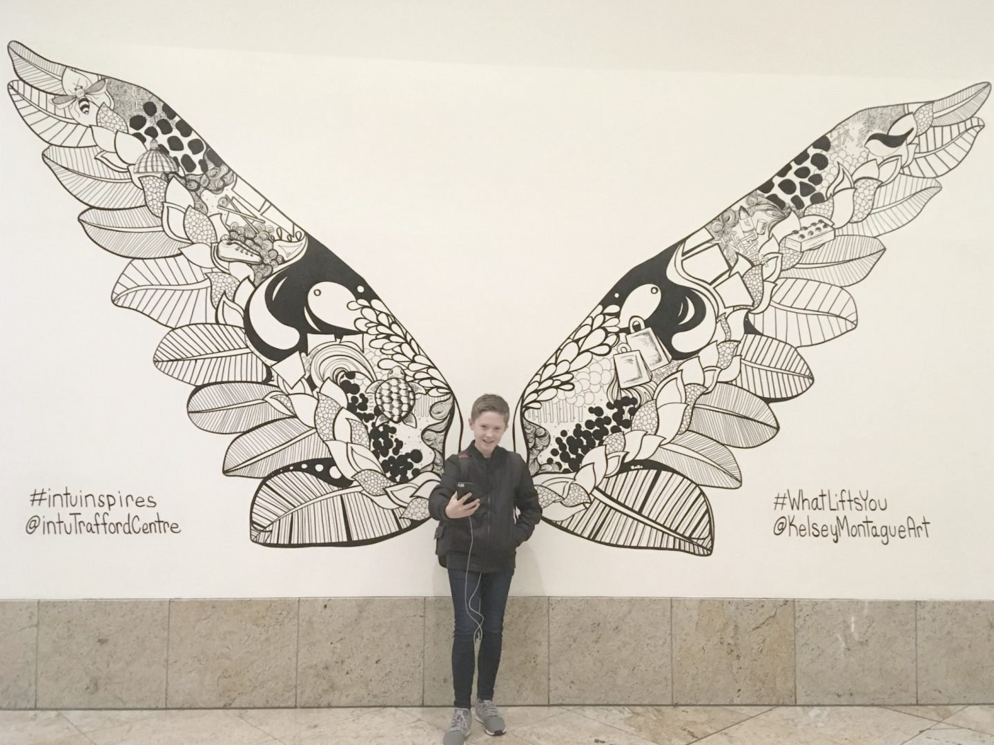 Angel Wings at trafford Center www.extraordinarychoas.com