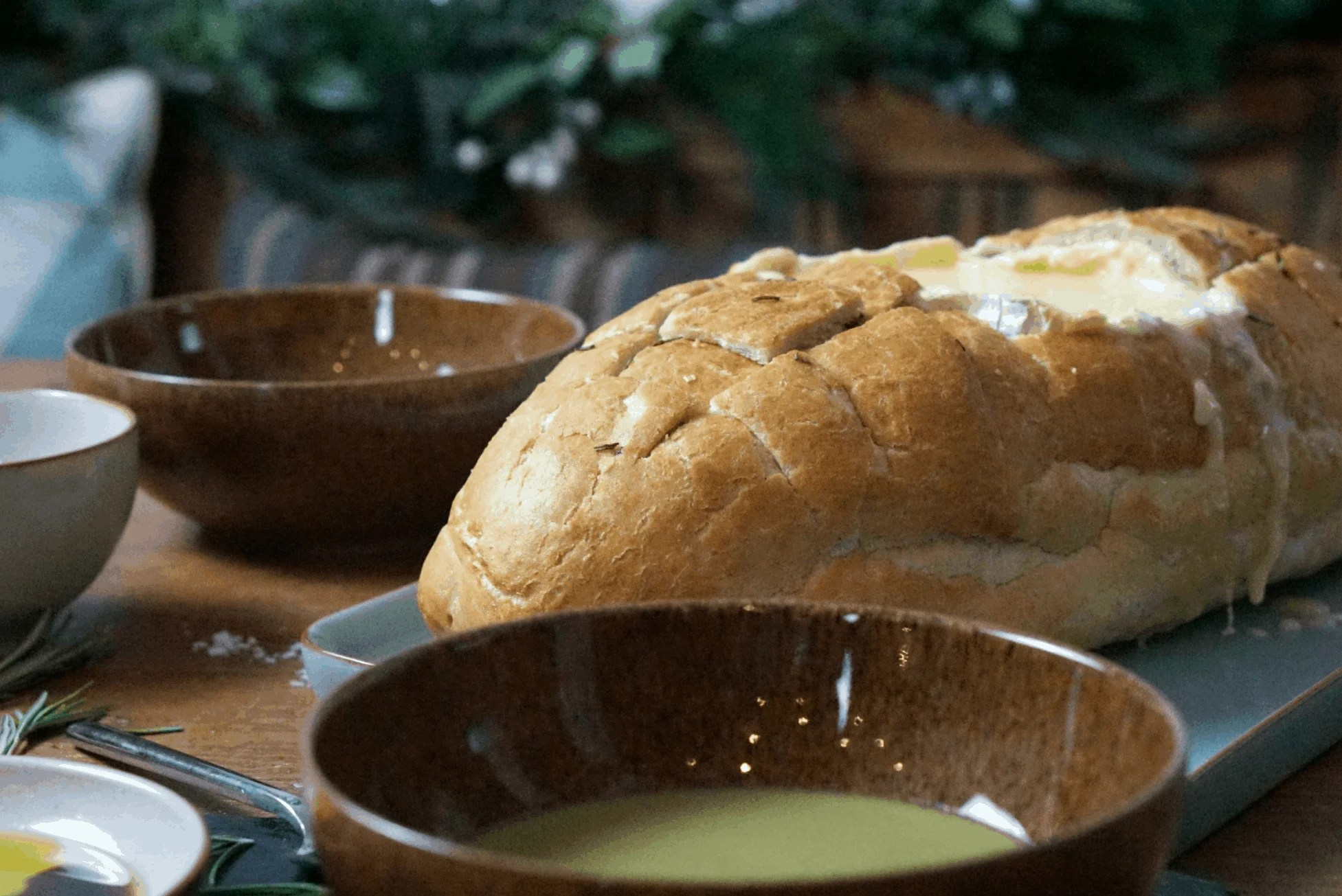Baked Camembert And Tiger Bread