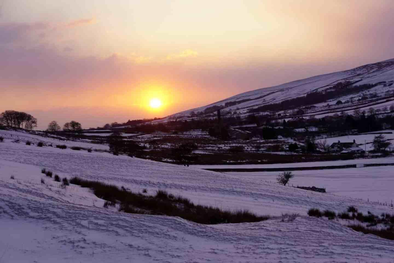 Lancashire Sunset in the snow www.extraordinarychaos.com