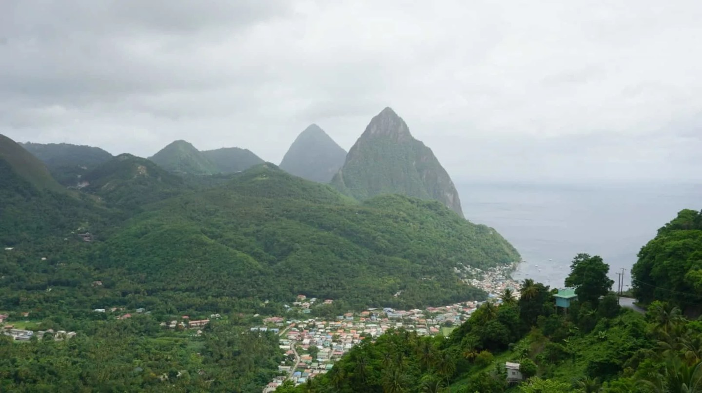 A view of the Pitons in St Lucia www.extraordinarychaos.com