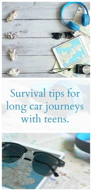 Survival tips for long car journeys with teens