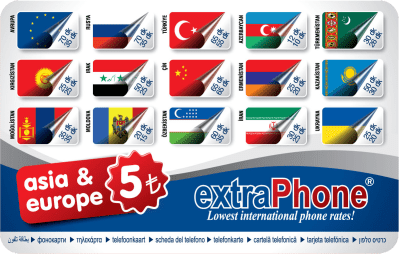 Asia&Europe 5TL Telefon Kartı