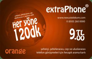 Her Yöne 120 Dakika Telefon Kartı