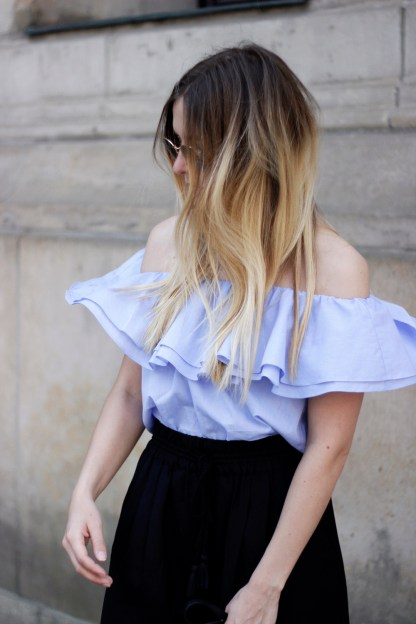 OOTD_Off-SHoulder_Blouse_hair