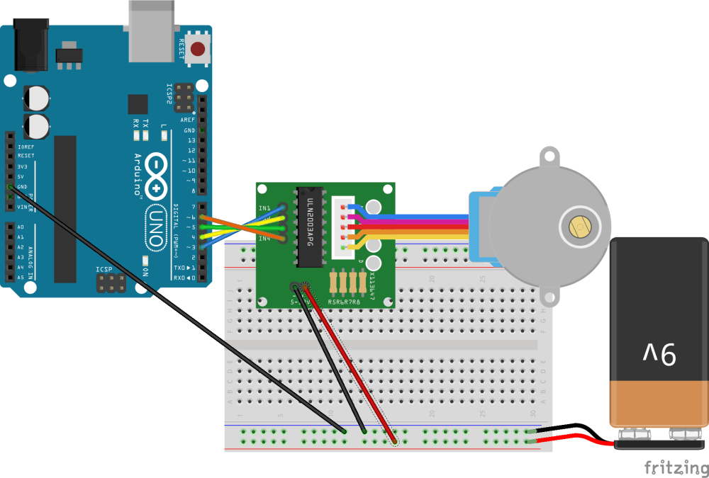 medium resolution of connection diagram for stepper driver and arduino uno