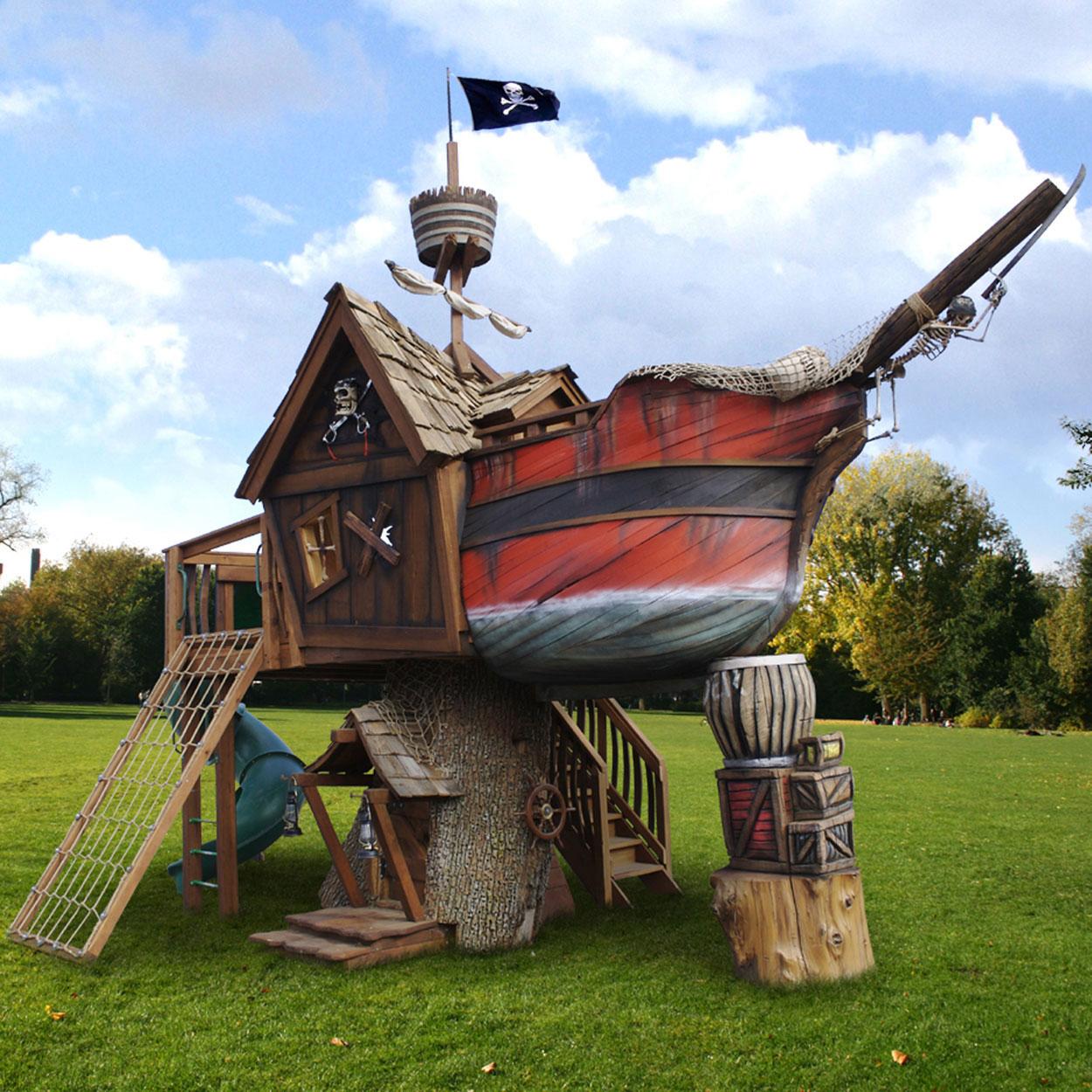 Pirate Ship Tree Playhouse By Daniels Wood Land Extravaganzi