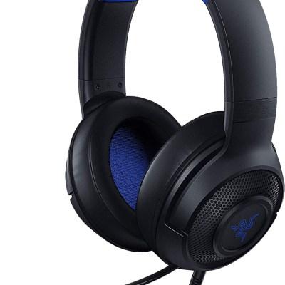 Razer kõrvaklapid + mikrofon Kraken X Console, must/sinine