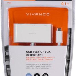 Vivanco adapter USB-C – VGA 3in1 (45386)