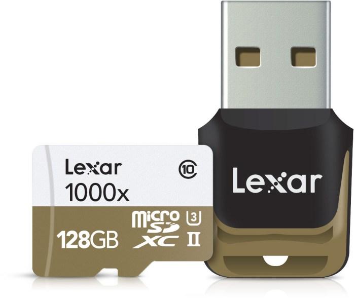Lexar mälukaart microSDXC 128GB Pro 1000x V60 + mälukaardilugeja