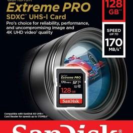 SanDisk mälukaart SDXC 128GB Extreme Pro V30 U3