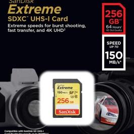 SanDisk mälukaart SDXC 256GB Extreme Video V30 U3