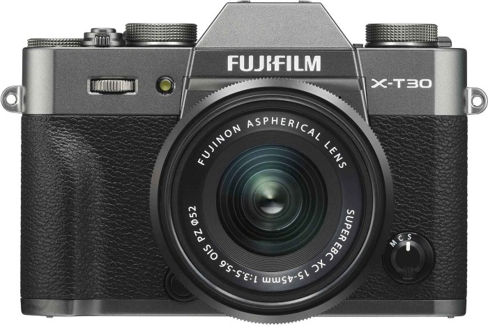 Fujifilm X-T30 + 15-45mm Kit, charcoal