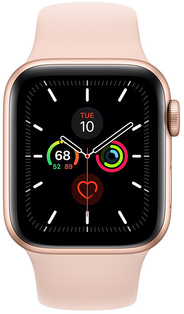 Apple Watch 5 GPS 44mm Sport Band, gold/pink sand