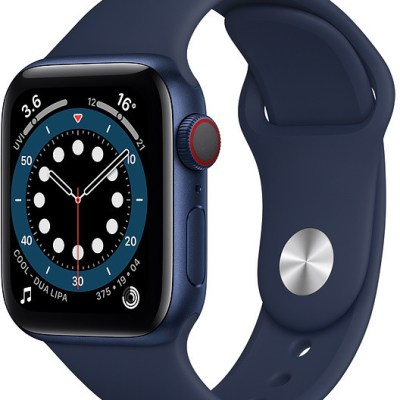 Apple Watch 6 GPS + Cellular 40mm Sport Band, blue/deep navy (M06Q3EL/A)