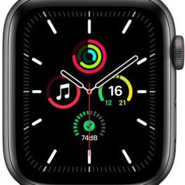 Apple Watch SE GPS + Cellular 44mm Sport Loop, space grey/tornado/grey (MKT53EL/A)