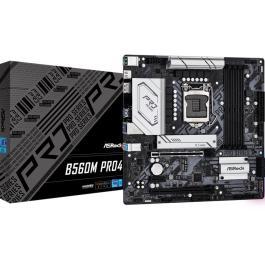 Mainboard|ASROCK|Intel B560|LGA1200|MicroATX|Memory DDR4|Memory slots 4|2xPCI-Express 16x|1xPCI-Express 3.0 1x|1xM.2|1xHDMI|1xDisplayPort|1xAudio-In|1xAudio-Out|1xMicrophone|2xUSB 2.0|4xUSB 3.2|1xPS/2|1xRJ45|3xWiFi antenna port|B560MPRO4