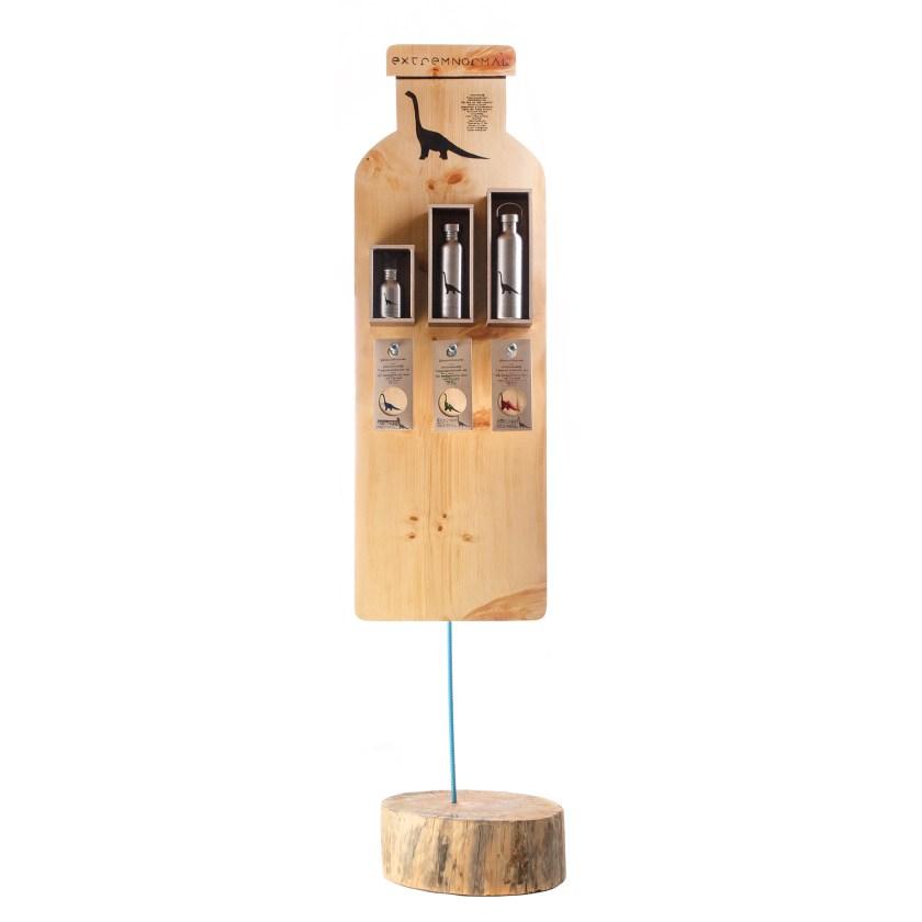 Zirbenholz Aufsteller für extremnormal® Trinkwasserflaschen