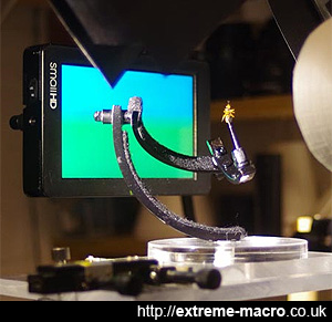 Photography equipment for an extreme macro studio