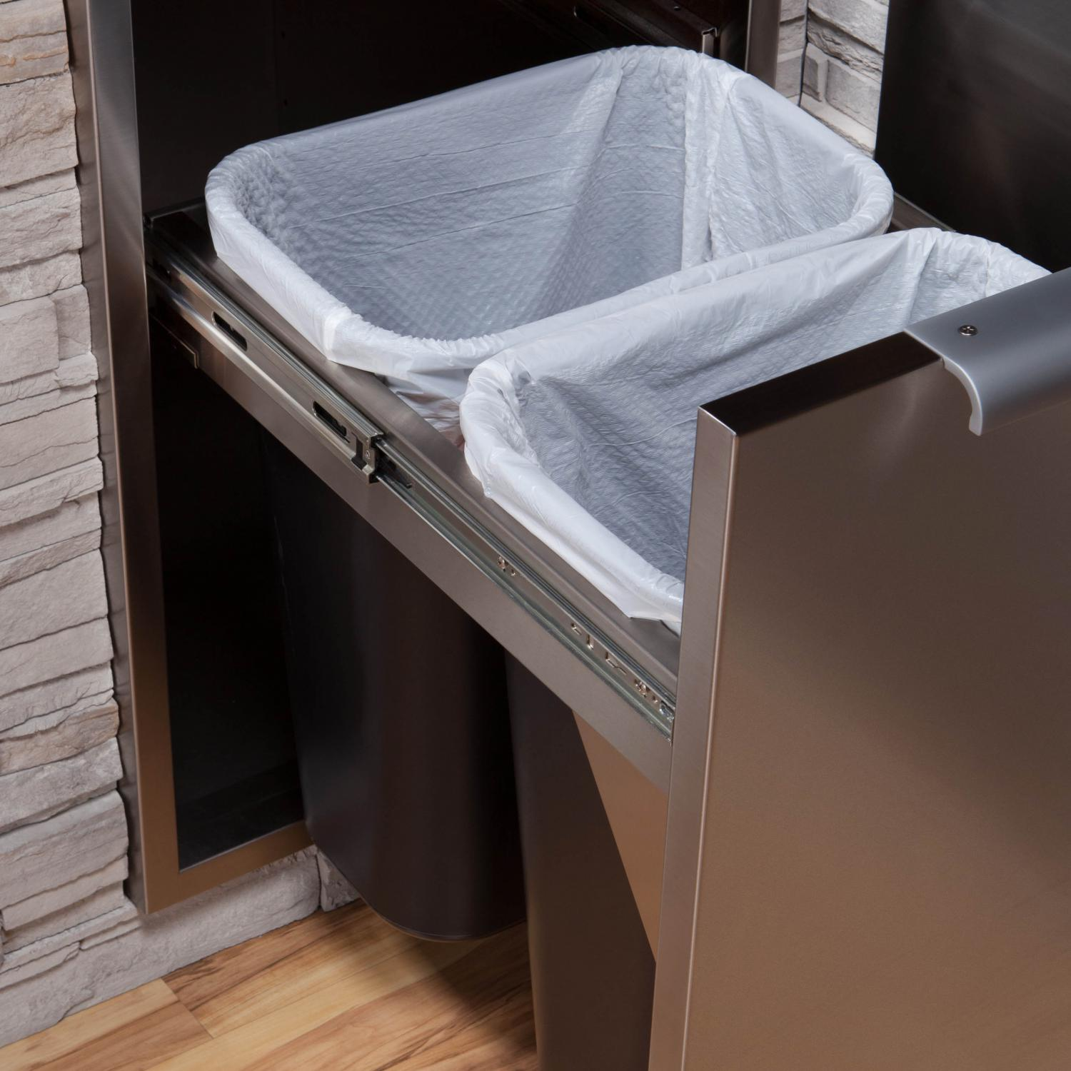 DCS 20Inch RollOut Trash  Recycle Bin With Soft Close