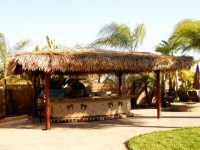 Two Piece BBQ Island W/ Solid Roof Palapa - Extreme ...