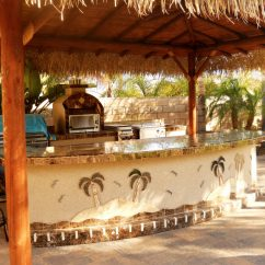 Kitchen Designs On A Budget Best Rated Faucets Two Piece Bbq Island W/ Solid Roof Palapa - Extreme ...