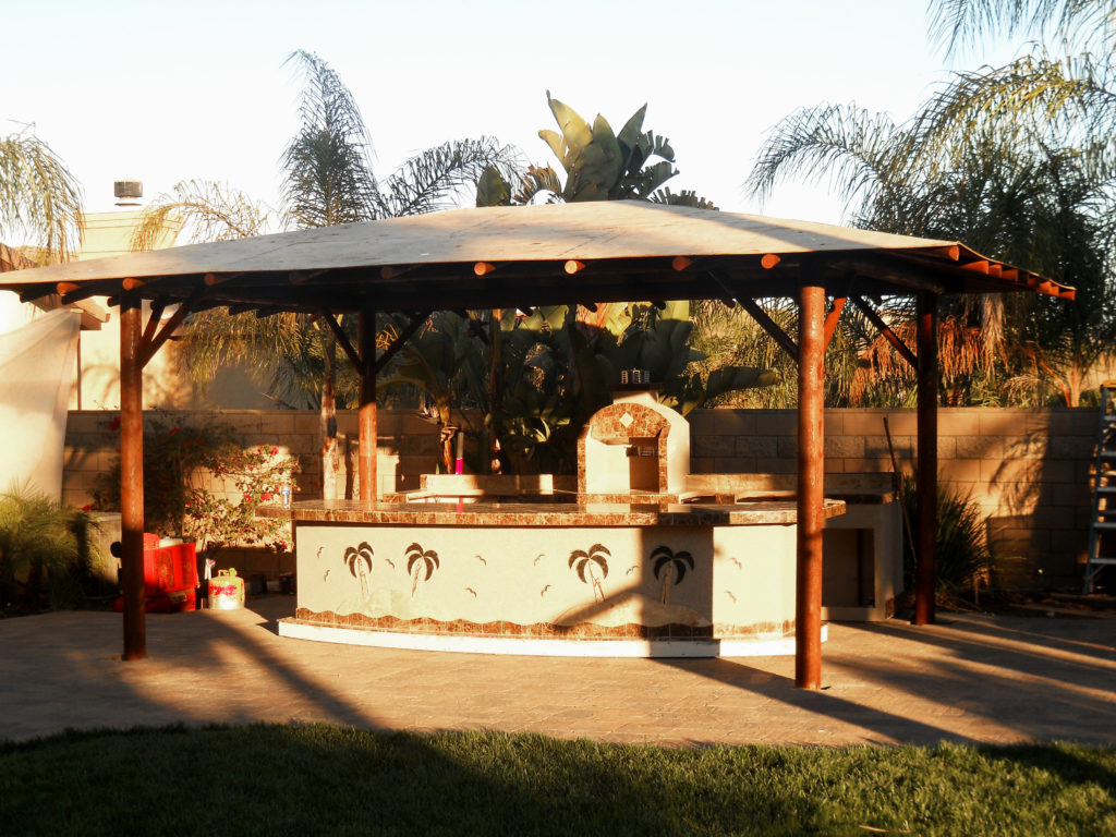 kitchen designs on a budget samsung appliance package two piece bbq island w/ solid roof palapa - extreme ...