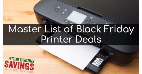 Master List Of Black Friday Printer Deals Extreme