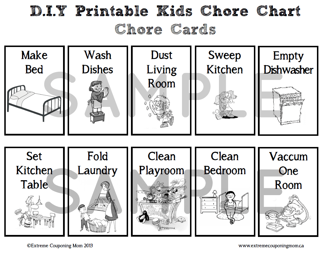 D I Y Crafts D I Y Printable Children S Chore Chart