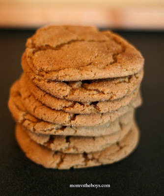 Peanut-Better Gingersnap Cookies | Mom vs The Boys